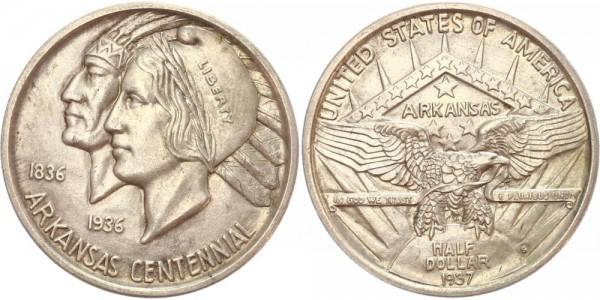 USA 1/2 Dollar 1937 Arkansas Centennial