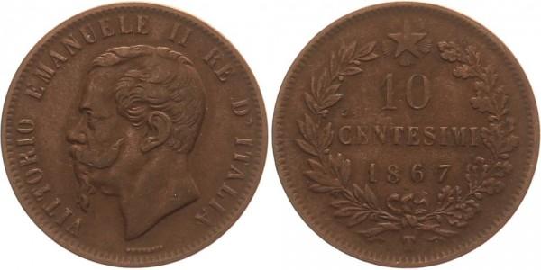 Italien 10 Centesimi 1867 - Vittorio Emanuele