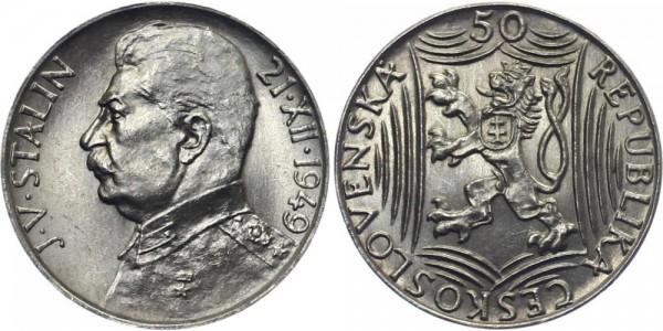 CSR 50 Kč 1949 - 70. Geburtstag Stalin