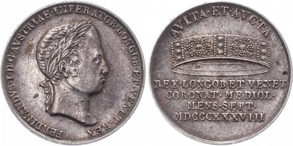 Österreich Jeton 1838 - Ferdinand I., Auf die Krönung Mailand