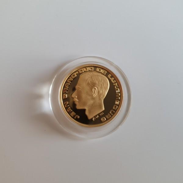 Luxemburg 20 Francs 1989 150. Jahrestag des Großherzogtums, Jean 1/5 Oz. PP