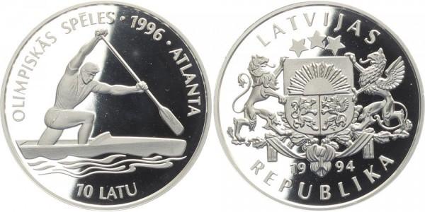 Lettland 10 Latu 1994 - Olympiade Atlanta, Kanu