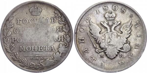 Russland Rubel 1808 - Alexander I. 1801-1825