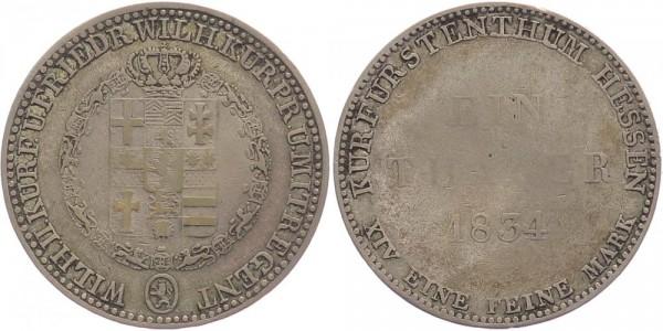 Hessen-Kassel Taler 1834 - Wilhelm II. und Friedrich Wilhelm