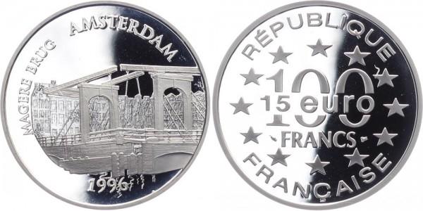 Frankreich 100 Francs/15 Euro 1996 - Magere Brug Amerstdam
