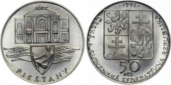 CSFR 50 Kč 1991 - Piestany