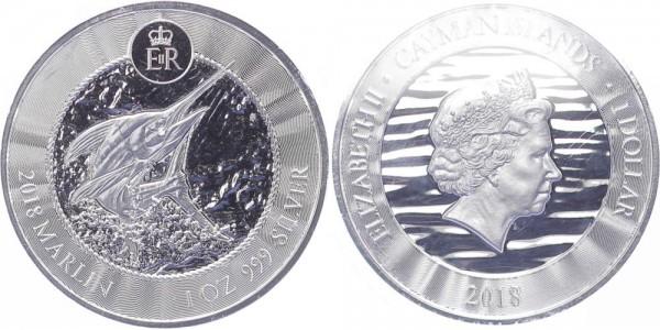 Cayman Islands 1 Dollar 2018 - Marlin