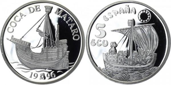 SPANIEN 5 Ecu 1996 - Segelschiff Coca De Mataro