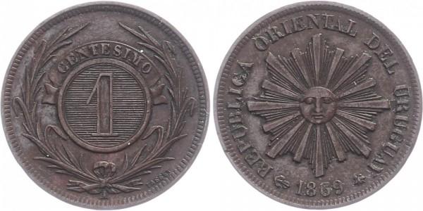 Uruguay 1 Centesimos 1869