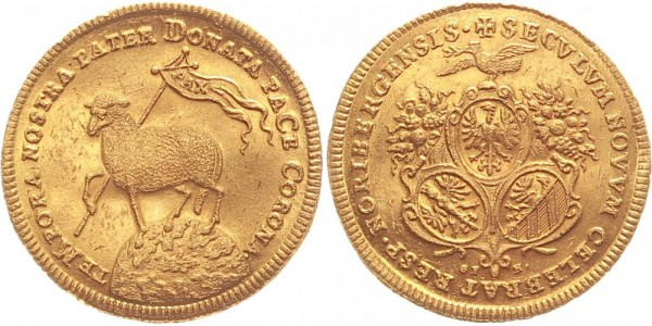 Nürnberg Doppelter Lammdukat 1700 - Nürnberg