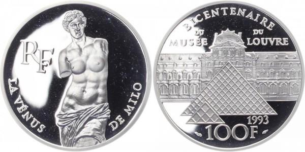 Frankreich 100 Francs 1993 - 200 Jahre Louvre, Venus von Milo