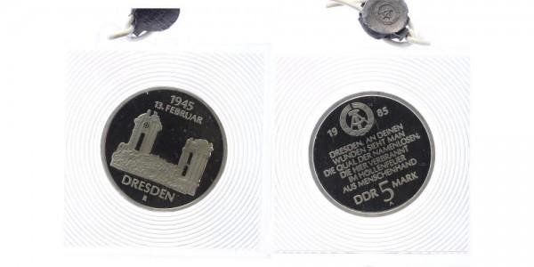 DDR 5 Mark 1985 - Zerstörung Dresdens
