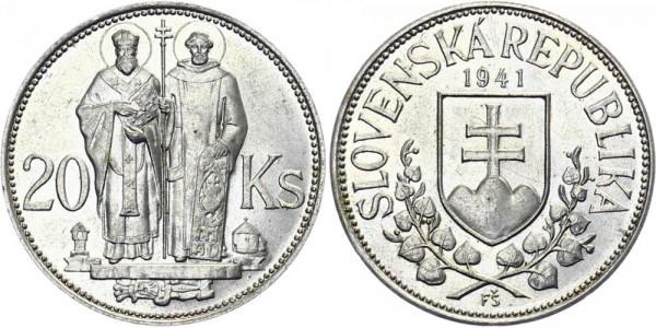 Slowakei 20 Kronen 1941 - Kyrill & Methodius