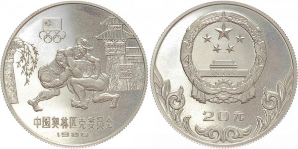 China 20 Yuan 1980 - Olympische Ringer
