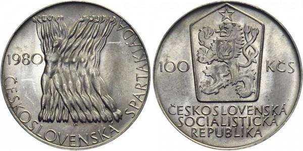 CSSR 100 Kč 1980 - Spartakiade Games