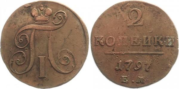 Rußland 2 Kopeken 1797 EM Kursmünze