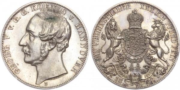 Hannover Taler 1866 - Georg V.