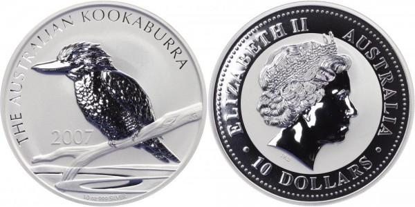 Australien 10 Dollars 2007 - Kookaburra - Lunar Serie