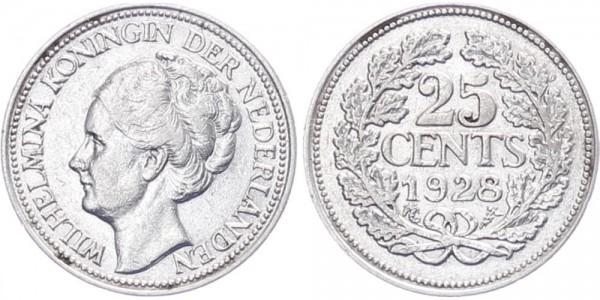 Niederlanden 25 Cent 1928 - Kursmünze