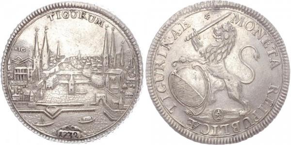 Schweiz 1/2 Taler 1732 Zürich Stadtansicht