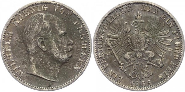 Preussen Taler 1866 - Wilhelm I.