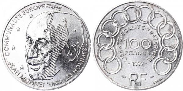 Frankreich 100 Francs 1992 - Jean Monet