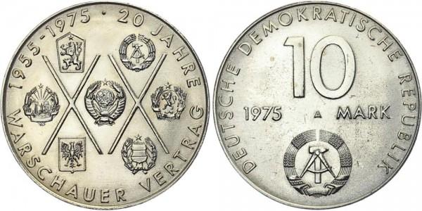 DDR 10 Mark 1975 A Warschauer Vertrag
