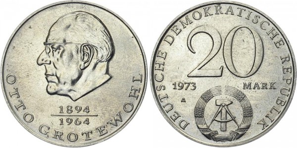 DDR 20 Mark 1973 A Grotewohl