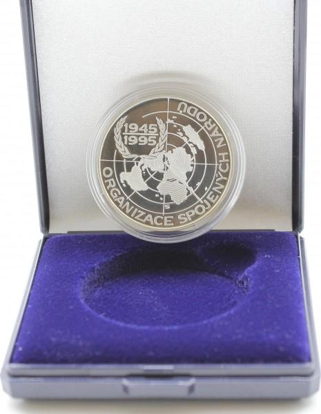 Tschechoslowakei/Tschechien 200 Kronen 1995 50 Jahre Vereinte Nationen