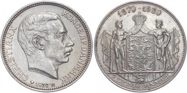 Dänemark 2 Kroner 1930 - Christian X.