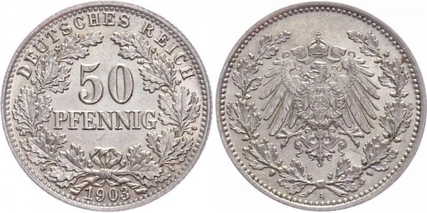 Kaiserreich 50 Pfennig 1903 A