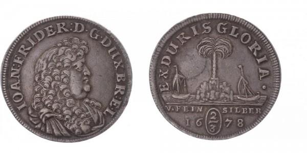 Braunschweig-Calenberg-Hannover 2/3 Taler 1678 - Palmbaumgulden, Johann Friedrich