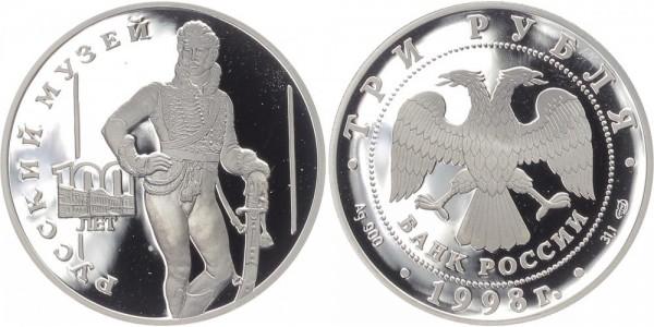 Russland 3 Rubel 1998 - Offizier E.V. Davydov