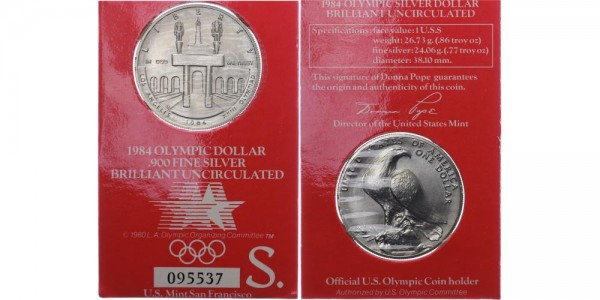 USA 1 Dollar 1984 San Francisco Olympiade 1984