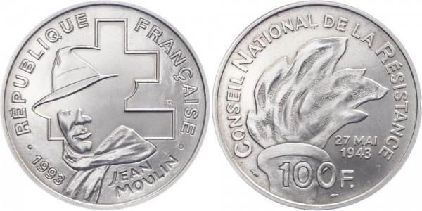 Frankreich 100 Francs 1993 - Jean Moulin