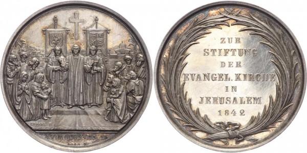 Brandenburg Medaille 1842 - Einweihung der evangelischen Kirche in Jerusalem