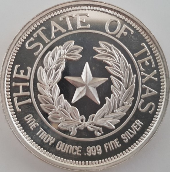 USA 1 Unze 1986 Texas, State of Texas; One Troy Ounce