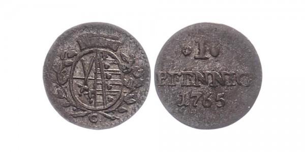 Sachsen 1 Pfennig 1765 C