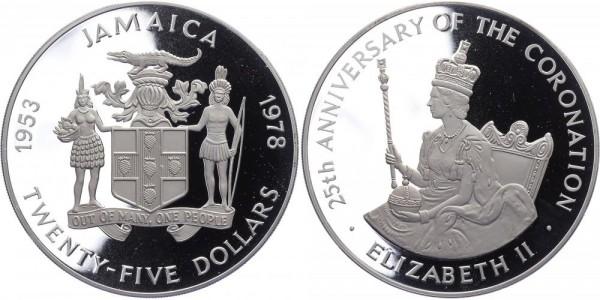 Jamaica 25 Dollar 1978 - Jahrestag