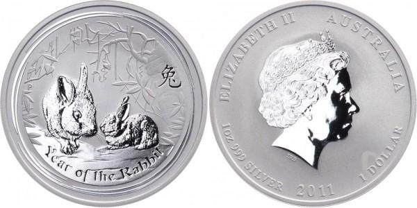 Australien 1 Dollar 2011 - Jahr des Hasen - Lunar Serie