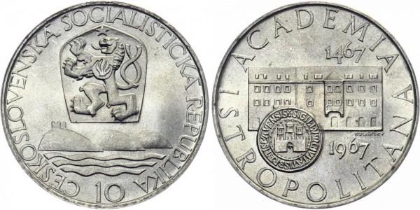 CSSR 10 Kč 1967 - 500 J. Uni Bratislava