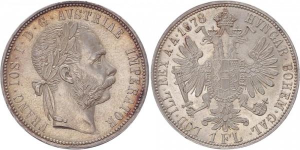 Österreich 1 Florin (Gulden) 1878 - Franz Joseph I.