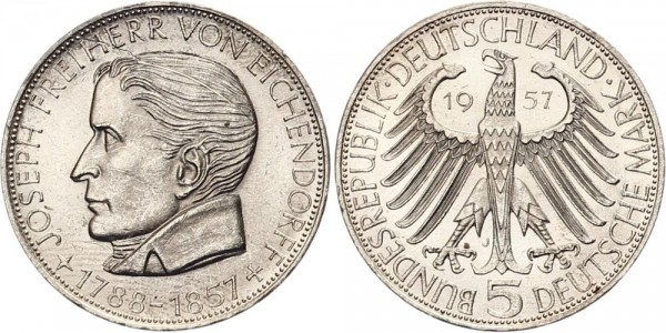 BRD 5 Mark 1957 - Eichendorff