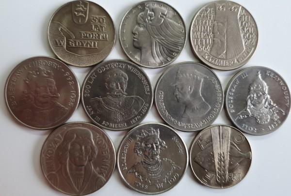 Polen 5x50 1x20 4x10 Zloty 1959-1983 10er Lot Polnische Persönlichkeiten und div. Kursmünzen
