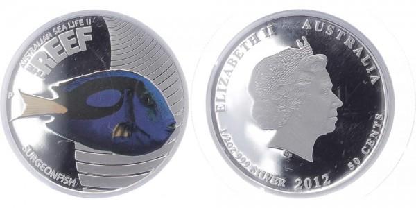 Australien 50 Cents 2012 - Surgeonfish