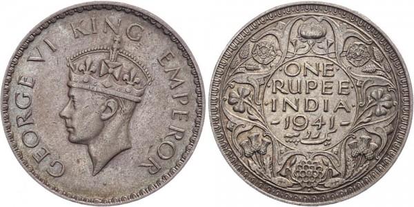 Britisch-Indien 1 Rupie 1941 Bombay Georg VI.