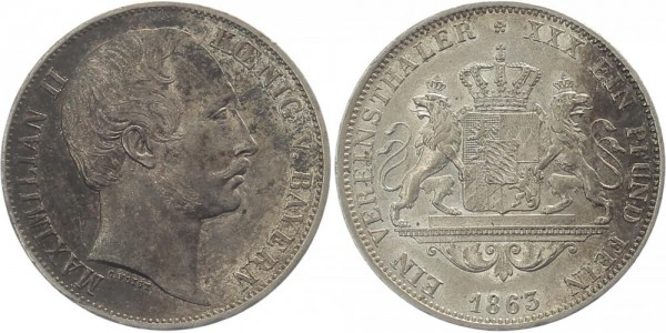 Bayern Vereinstaler 1863 - Maximilian II.