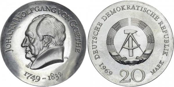 DDR 20 Mark 1969 A von Goethe