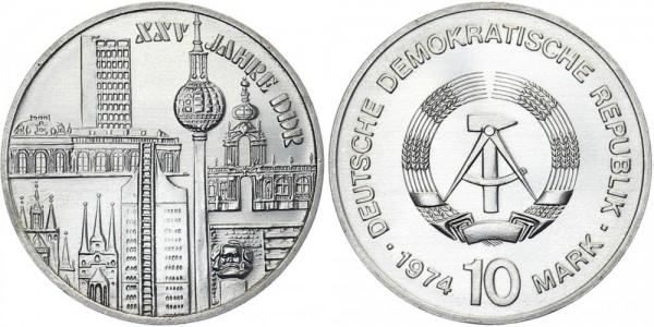 """DDR 10 Mark 1974 A 25 Jahre DDR """"Bauwerke"""""""