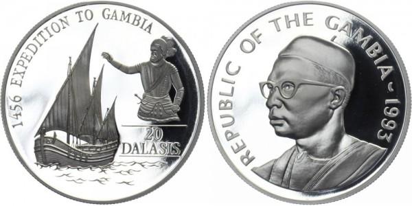 GAMBIA 20 Dalasis 1993 - Expedition nach Gambia